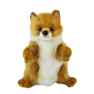 """Life-size and realistic plush animals.  7947 - FOX PUPPET 12""""L"""