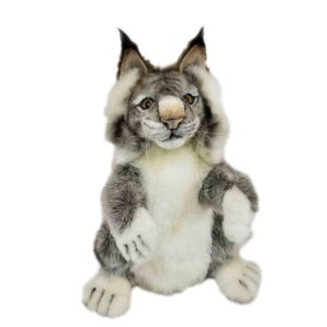 """Life-size and realistic plush animals.  7948 - LYNX PUPPET  13""""L"""