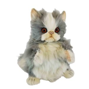 """Life-size and realistic plush animals.  7953 - TABBY CAT PUPPET 15.7""""L"""