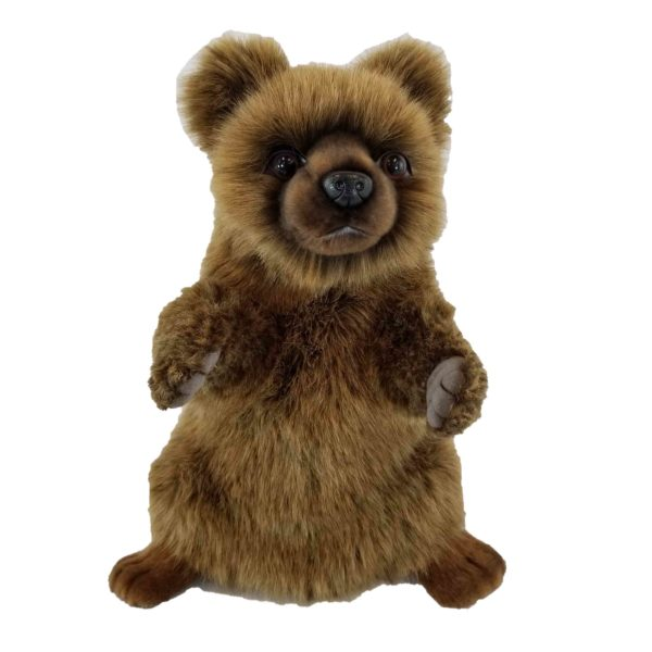 """Life-size and realistic plush animals.  7954 - BROWN BEAR PUPPET 13""""L"""
