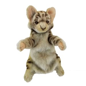 """Life-size and realistic plush animals.  7960 - LEOPARD CAT PUPPET 15.2""""L"""