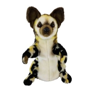 """Life-size and realistic plush animals.  7982 - WILD DOG PUPPET 15.75""""L"""