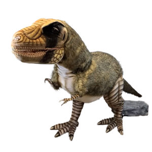 """Life-size and realistic plush animals.  0823 - T-REX MOVING 126""""L X 63""""H"""