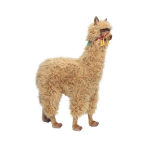 Life-size and realistic plush animals.  6446 - ALPACA RIDE-ON (SP)