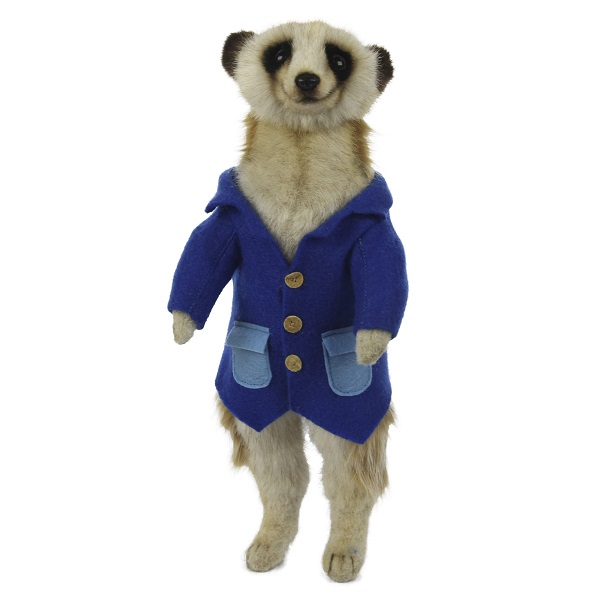 """Life-size and realistic plush animals.  7872 - MEERKAT MALE 13""""H (BLUE SHIRT)"""
