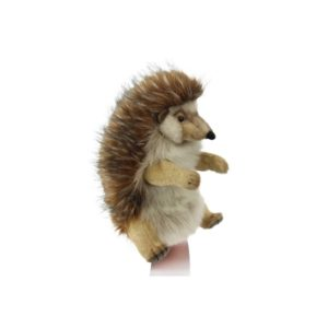 """Life-size and realistic plush animals.  8018 - HEDGEHOG PUPPET 12.6""""L"""