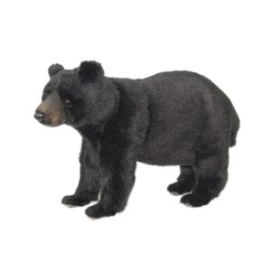 Life-size and realistic plush animals.  8068 - BLACK BEAR STANDING
